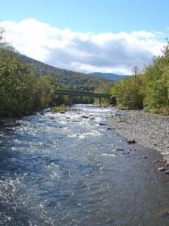 The Esopus Creek across the street