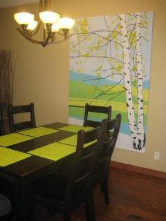 Dine under the birch trees!