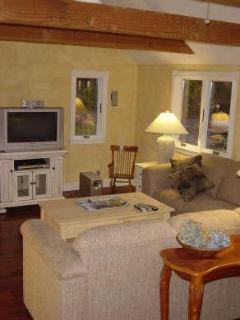 High def tv with dvd surround sound in family room