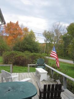 looking eastward from the deck