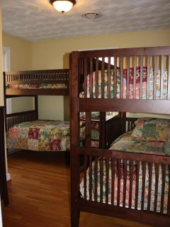 bedroom #3 with dual bunk beds