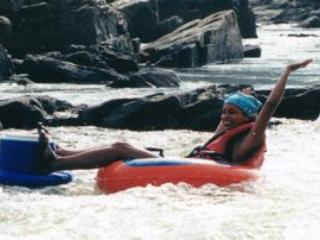 whitewater tubing on the Potomac River with River Riders