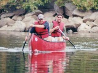 Canoeing on the Potomac River near Shepherdstown with River Riders