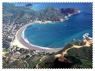 AERIAL VIEW OF SAN JUAN DEL SUR BAY