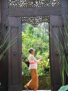 Entrance Doorway to Villa Santai