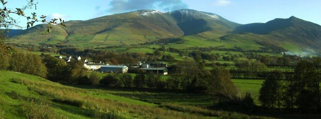 Skiddaw Mountain and Bassenthwaite Village - this view is about 5 mins walk away
