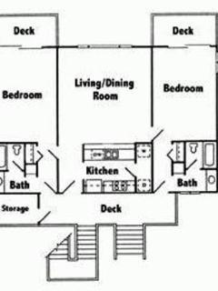 Spacious 1218 sf Open Floor Plan