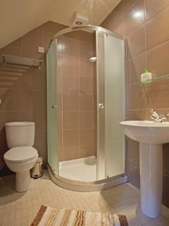 Spacious ground floor Shower Room with with toilet and wash hand basin