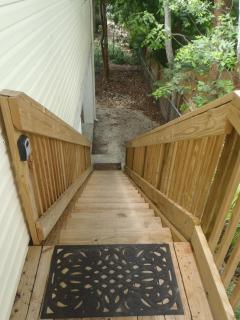 Staircase up to the Deck