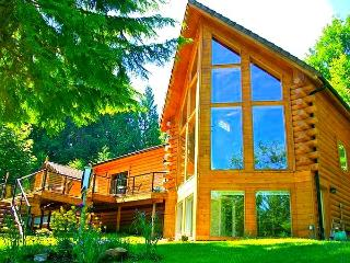 THIRD NIGHT FREE at Luxurious Riverfront Log Home Estate - North Bend, WA