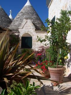 Trullo bedroom from the courtyard