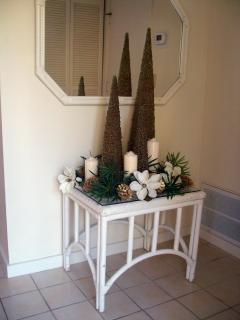 Villa Entryway Decorated for Christmas