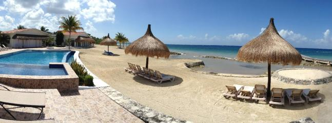 Panoramic view of the beach & pool area