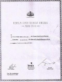 kerala state tourism award for best homestay in kerala