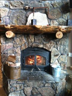 burning fireplace 1