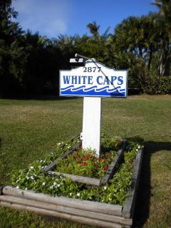 White Caps entrance sign