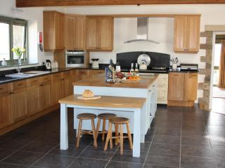 Large open plan kitchen, with kitchen table out of shot