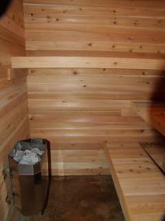 downstairs indoor sauna
