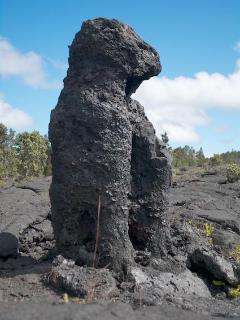 This lava gaurdian is actually where lava flowed around a tree in the park.