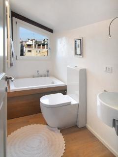 The bathroom with Japanese style bathtub