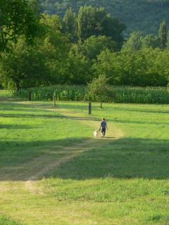 Riverbank walk to Village