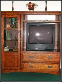 Mission Style Entertainment Center with TV and DVD