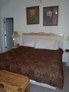 Master suite sleeps 3 (twin bed not shown) , has en suite bathroom