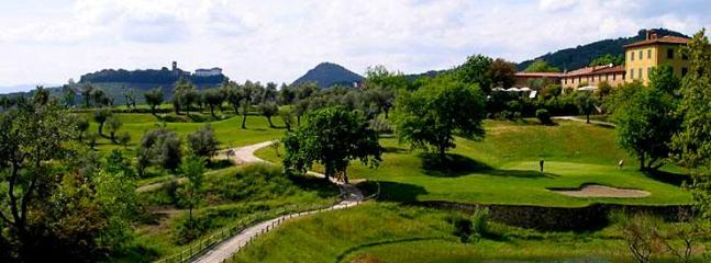 Playing golf in Montecatini Terme
