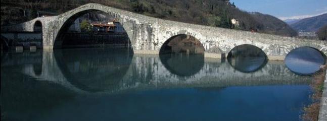 The Ponte della Maddalena also known as 'Devil's Bridge'