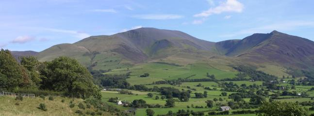 Panoramic view of Skiddaw mountain 15 mins walk away