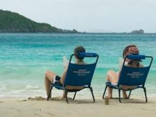 Beach chairs included