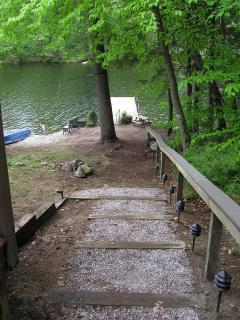 Steps with LED Lighting To Patio & Dock.