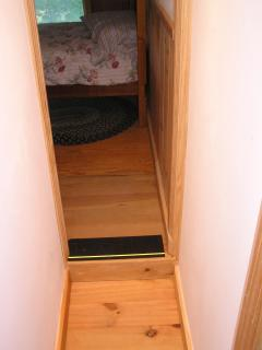 Step-up From This Narrow Hallway To BR#4 With Twin Bunk Beds That Sleep 2 Adults.