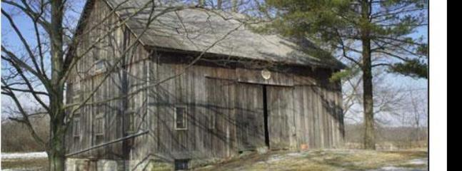 Restored bank barn in quiet country setting