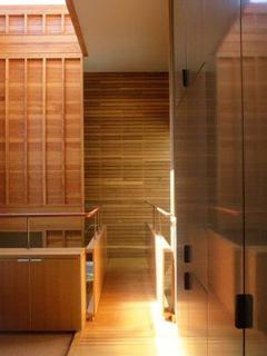 Walkway leading to/from master bedroom.  Architecture: Shim-Sutcliffe.