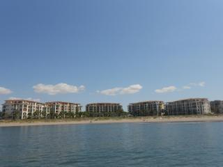 View of the condo buildings from water