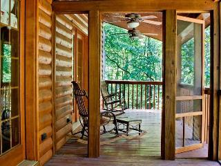 Back-porch with ceiling fans