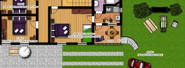 appartment in owner's house - floorplan