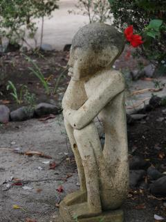 Statue in front garden