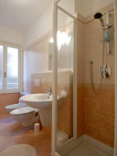 Bathroom with shower and facilities