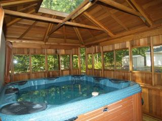 Hot Tub!.. Fishing, swimming, hiking,  wifi, snowmobiling, skiing, Wellston Mi.