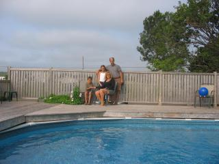 Our pool is always clean, warm and soft on the skin thanks to the salt water chlorinator