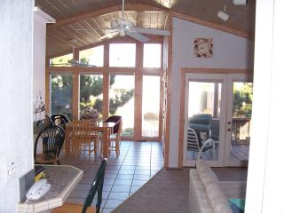 sunroom/dining area from living room