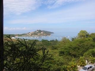 View of Flamingo Beach from Villa terrace