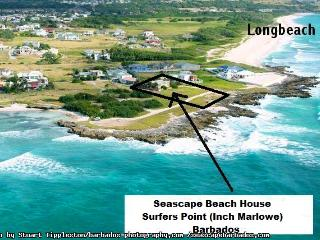 Seascape Beach House Ocean Front Tropical Cottage Surfers Point Barbados, Christchurch