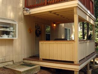 Outer deck and front entry