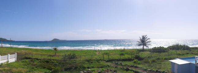 panoramic of Bathway Beach taken from lower deck