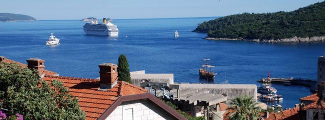 Watch the cruise ships from the Main bedroom balcony