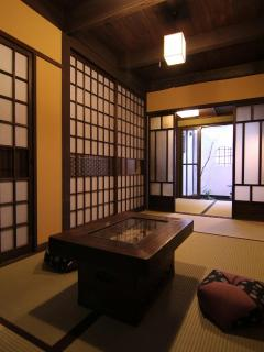 Living room, Tatami Bedroom and Garden
