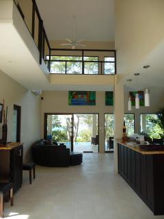 View from front door entrance toward rear patio